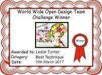 Leslie Turner Certificate 3-15-17