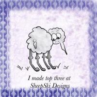 SheepSki Designs Top 3 badge