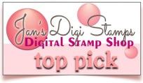 Framed Top Pick Badge - jans digi stamps